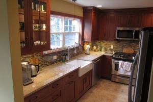 Cherry kitchen cabinets in Wayne, NJ