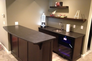 Bar cabinets with floating shelves in Wayne, NJ