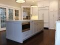 Gray kitchen cabinets in Montclair, NJ