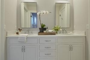 White bathroom vanity in Wyckoff, NJ