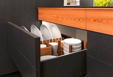 substituting deep drawers for kitchen cabinets creates more space during a kitchen remodel