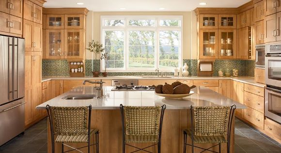A kitchen layout with island is very popular for many reasons