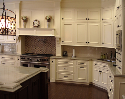 contemporary kitchen remodel featuring hearth styled wood hood