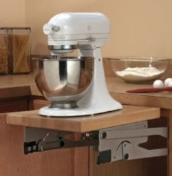 The mixer lift brings your stand mixer to you