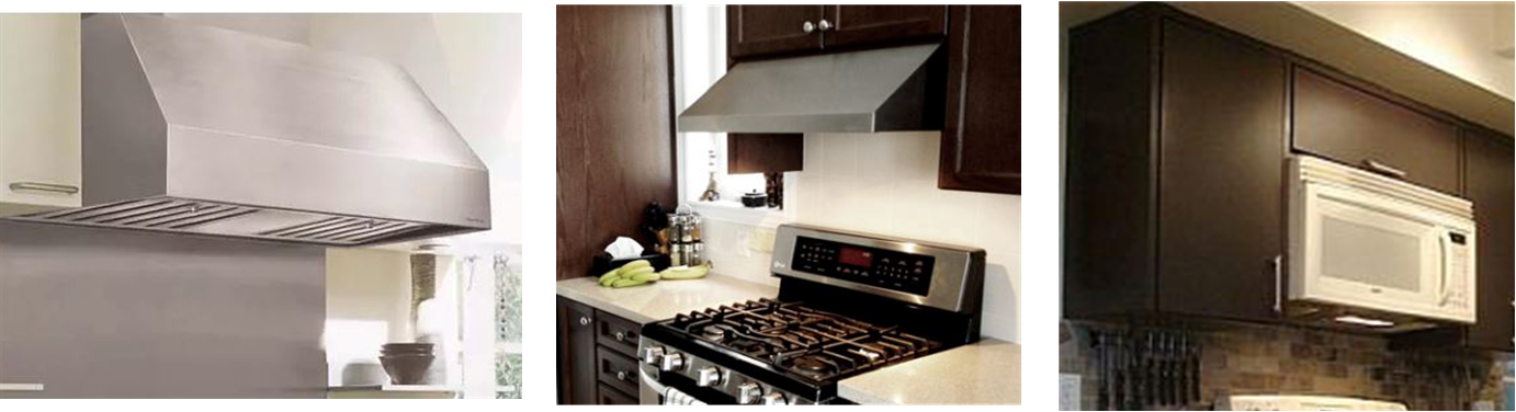 Budget friendly kitchen exhaust and venting options are available