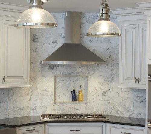 The range hood can be the focal point of a kitchen remodel