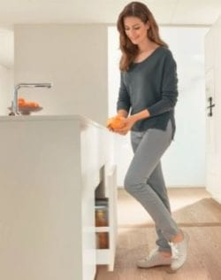 Your new kitchen needs a hands-free trash pull-out