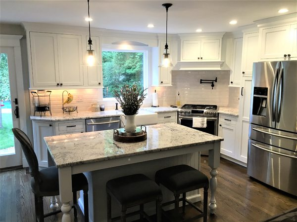 A kitchen design with white cabinets is not a trend