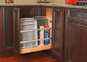 Store baking sheets upright to increase storage space