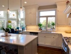 Beautiful kitchen featuring inset doors on framed cabinets